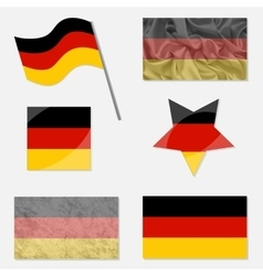 Set with Flags of Germany vector