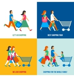 Shopping People Design Concept vector image