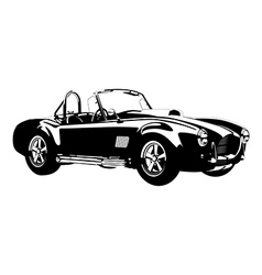 silhouette classic sport car ac cobra roadster vector image