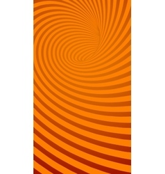 Spiral Orange Striped Abstract Tunnel Background vector image