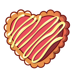 striped biscuit icon cartoon style vector image