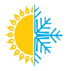 Summer winter air conditioning icon4 resize vector