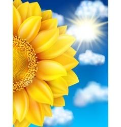 Sunflower against blue sky EPS 10 vector