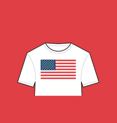 t-shirt with united states flag american vector image