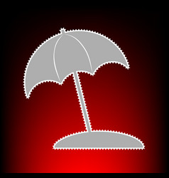 umbrella and sun lounger vector image