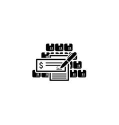 wholesale icon flat design vector image