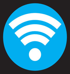 Wifi icon flat design vector image