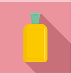Yellow plastic bottle icon flat style vector