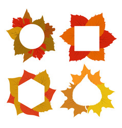 yellow red orange autumn leaves banner vector image