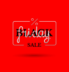 hand drawing lettering black friday in black and vector image