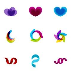 logo design elements set 01 vector image