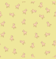 sheeps kids seamless pattern vector image vector image