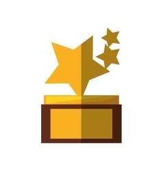stars trophy awards shadow vector image vector image