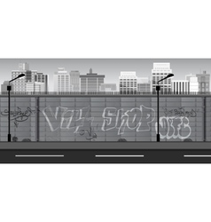 Black and white Landscape for game Seamless vector image