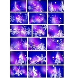 Blue shiny Christmas abstract backgrounds vector image vector image