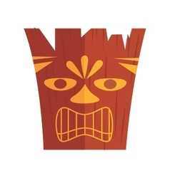 carved hawaiian tiki design vector image