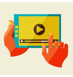 Creative concept with video player vector image vector image