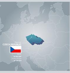 czech republic information map vector image
