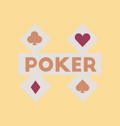 flat icon on stylish background logotype poker vector image vector image