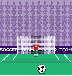 Goalkeeper in Flat Style Standing in a Goal vector image vector image