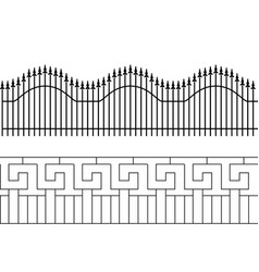 silhouette of decorative fence territory fencing vector image
