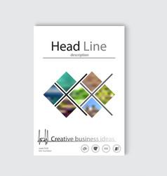 Blue annual report brochure flyer design template vector