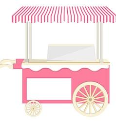 Ice cream pink cart vector image vector image