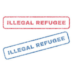 Illegal refugee textile stamps vector
