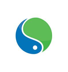 abstract circle water logo image vector image