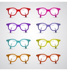 Colorful Set of Glasses Isolated on Grey vector image vector image