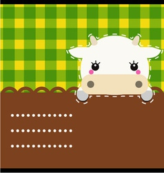 Cute friendly cow vector image