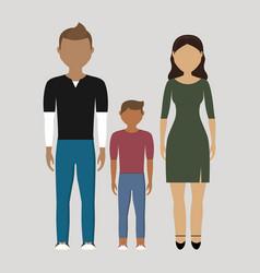 Family cartoon icon vector