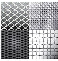 Metallic mesh set vector image vector image