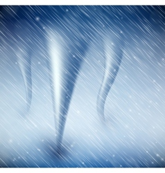 Natural background with tornado vector image vector image