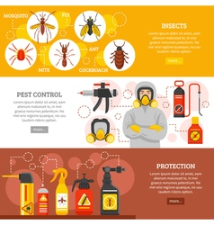 Pest Control Horizontal Banners vector image