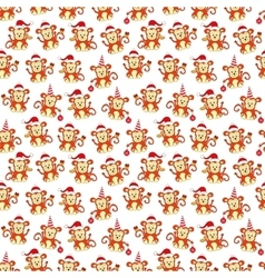 Seamless pattern monkey for new year vector image
