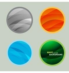 Set circle beautiful abstract wave color vector image vector image