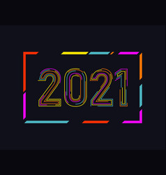 2021 new year logo numbers design vector image