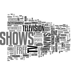 A brief run through of free tv shows text word vector