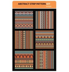 Abstract strip pattern set vector