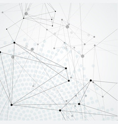 actual network connections with dots and lines vector image