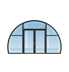 arched window and door vector image