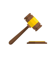 Auction gavel icon flat style vector