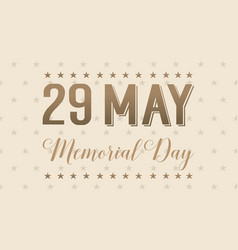 Banner for memorial day collection vector