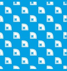 baseball field pattern seamless blue vector image
