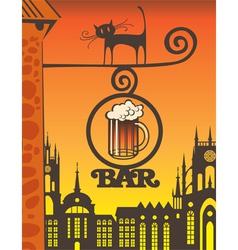 beer bar vector image