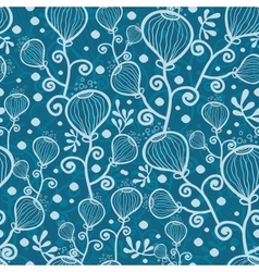 blue underwater abstract plants seamless pattern vector image