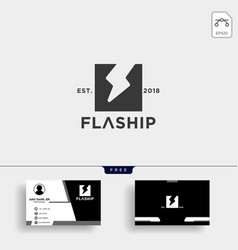 bolt flash thunderbolt logo template with vector image