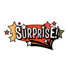Bright surprise speech bubble colorful emotional vector