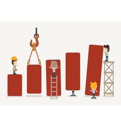 Businessman make graph vector